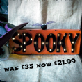 50% OFF LED Wall Sign Halloween- Spooky